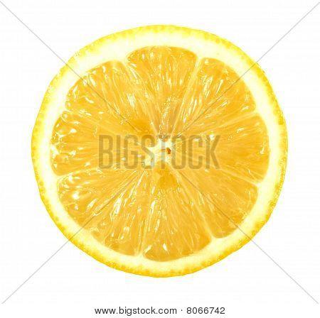 Single Cross Section Of Lemon
