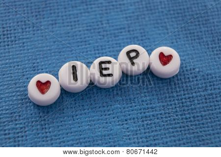 Individualized Education Plan (IEP) craft beads