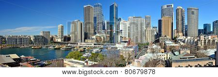 Sydney City Skyline Panorama, Australia.