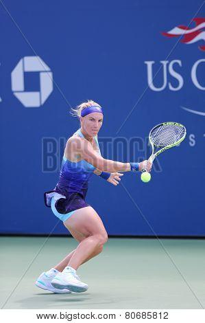 Grand Slam Champion Svetlana Kuznetsova from Russia during US Open 2014 first round match
