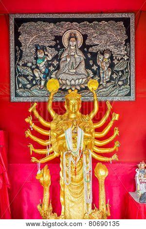 Statuebuddha, Phuket, Thailand. Thai Style Statues Acting Wai (or Sawasdee)