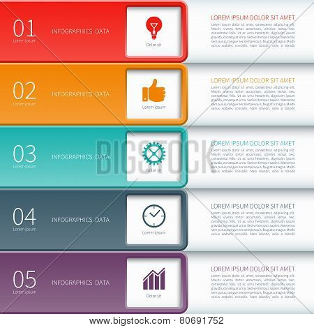 Modern minimal colorful infographics elements
