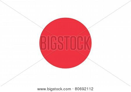 Japan Flag. Original Proportions And Oficial Colors. High Quality. Japanese Symbol.