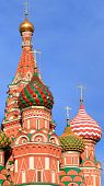 blessed Basil cathedral in moscow close up poster