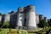 Keep at the Chateau d'Angers or the famous historic castle of Angers once capital of Anjou in Marne-et-Loire France. poster