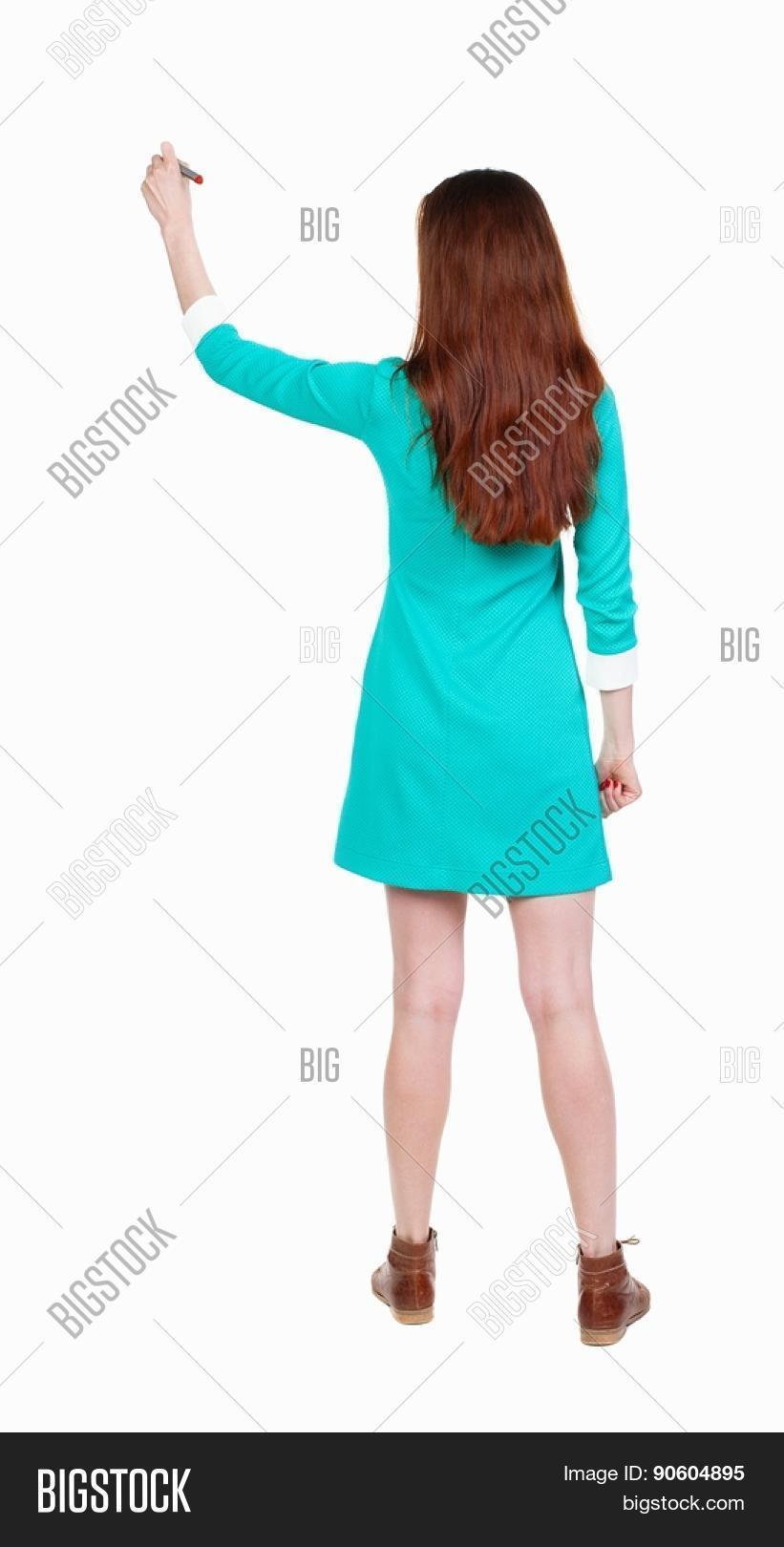 Back View Writing Image Photo Free Trial Bigstock