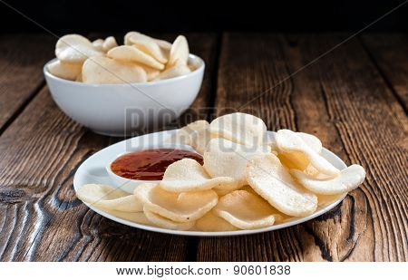 Fresh Made Prawn Crackers (krupuk)