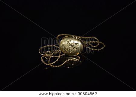 Floral locket Isolated