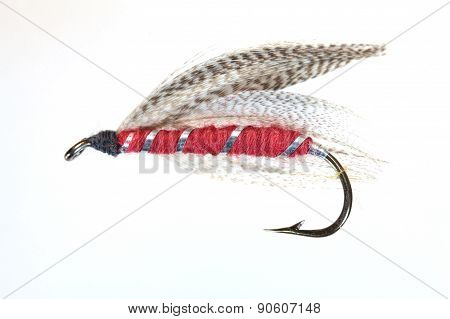 Macro photo of an artificial fly for fly fishing. poster