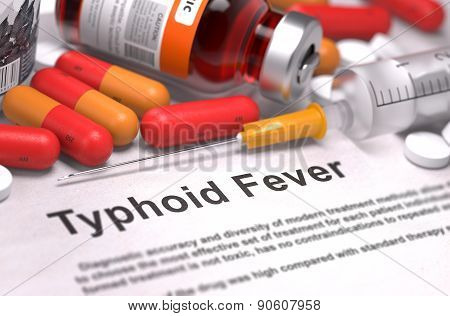 Typhoid Fever Diagnosis. Medical Concept.