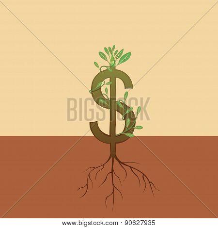 Dollar growth - Illustration