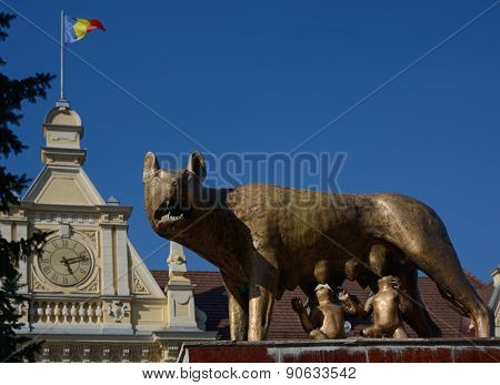 Romulus And Remus With She-wolf
