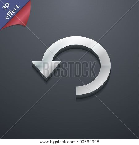 Upgrade, Arrow, Update Icon Symbol. 3D Style. Trendy, Modern Design With Space For Your Text Vector