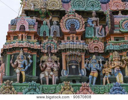 Four Gods And One Shivalingam.