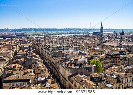 Cityscape Of Bordeaux, France
