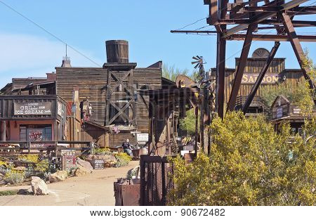 An Entrance To Goldfield Ghost Town, Arizona