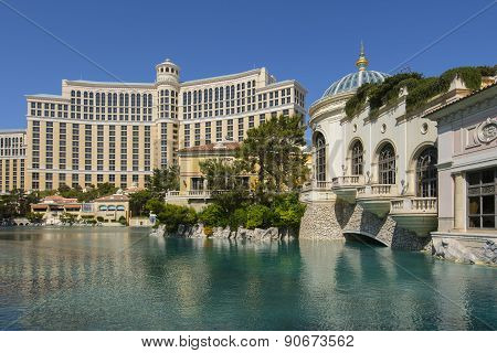 A day time view of the Bellagio hotel in Las Vegas.