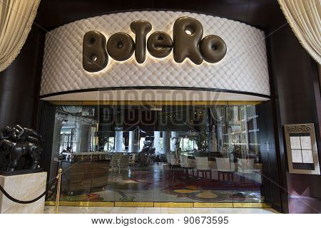 An exterior view of Botero restaurant at the Encore hotel in Las Vegas.
