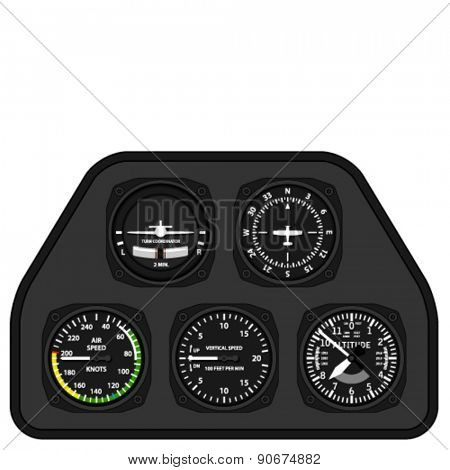 vector aviation airplane glider dashboard