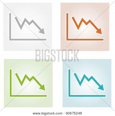 Decreasing Graph Icons