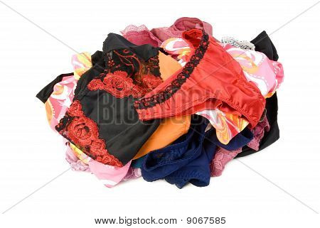 Pile Of Female Panties | Isolated