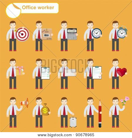 office worker - business sketches
