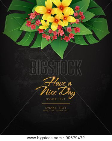 blossom tropical flower background 09