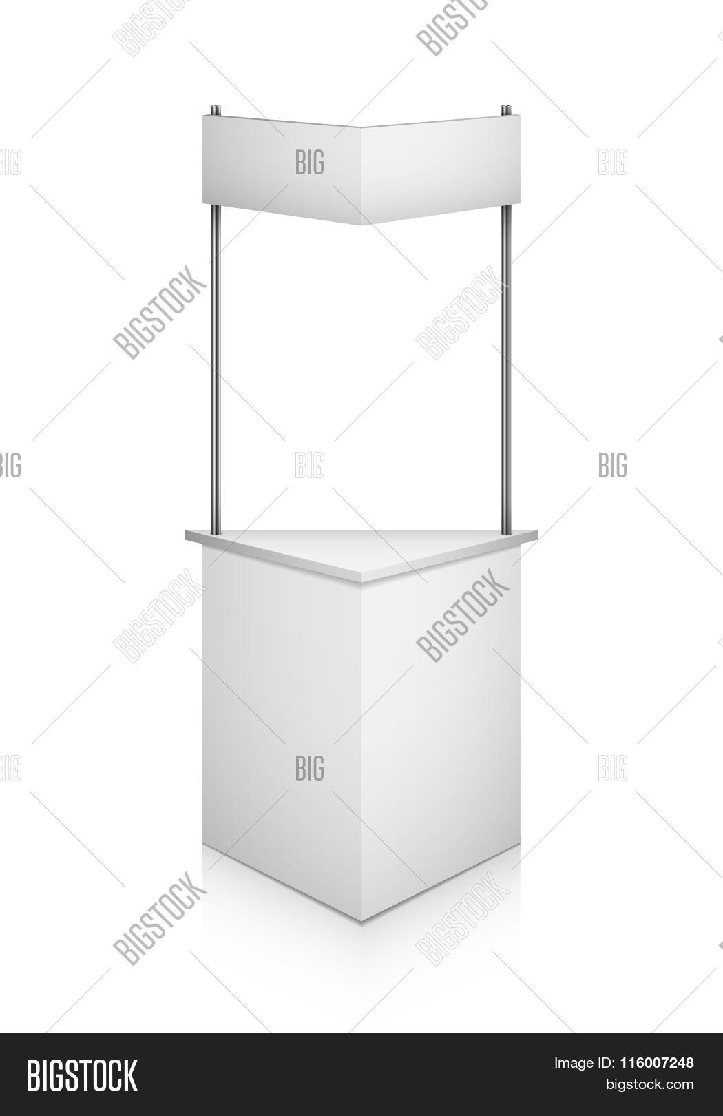 Trade Exhibition Stand Vector : Vector white blank indoor trade stock vector colourbox