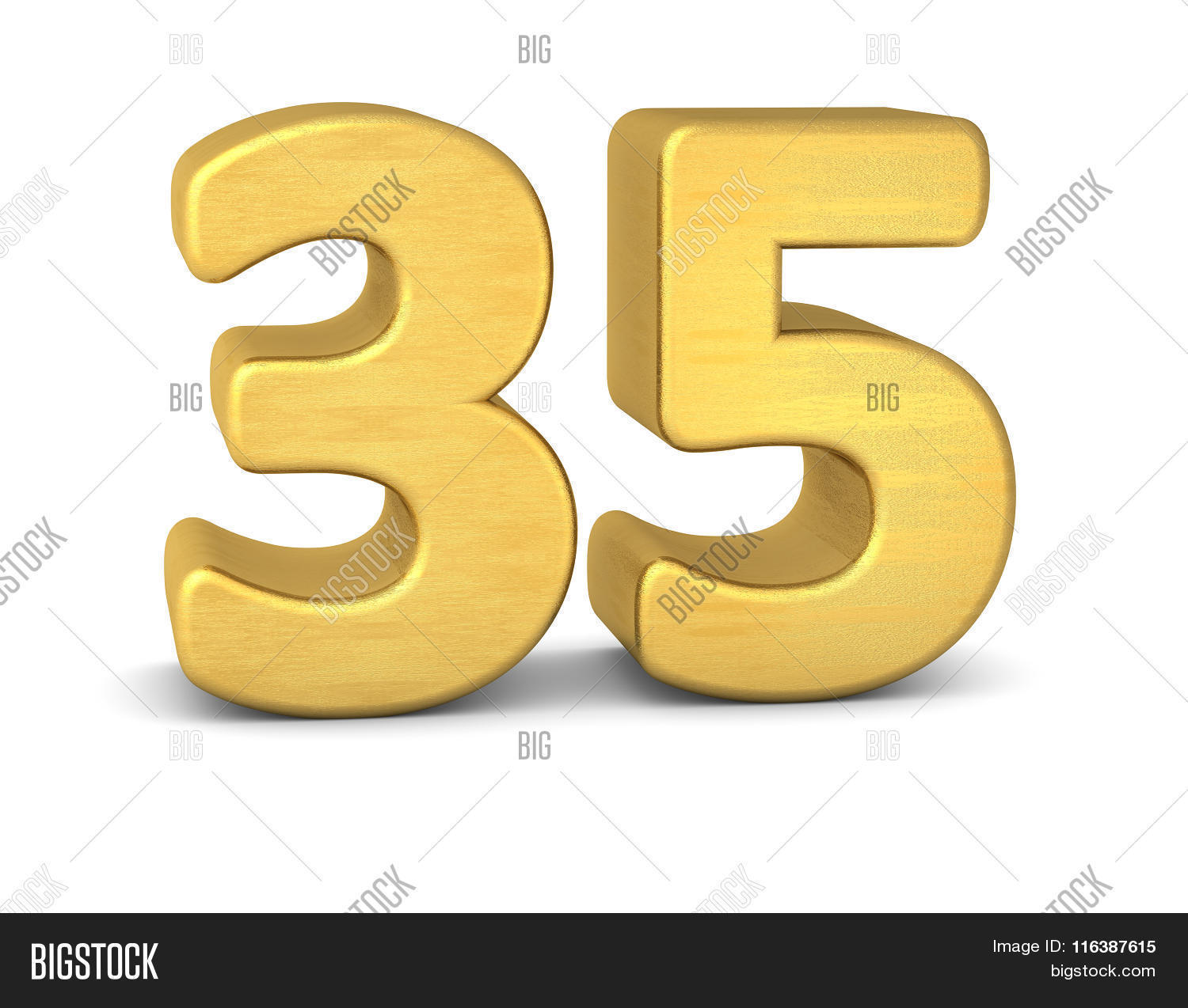 3d number 35 gold image photo free trial bigstock