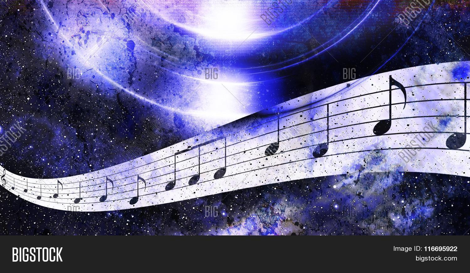 Music Note Space Stars Image & Photo (Free Trial) | Bigstock