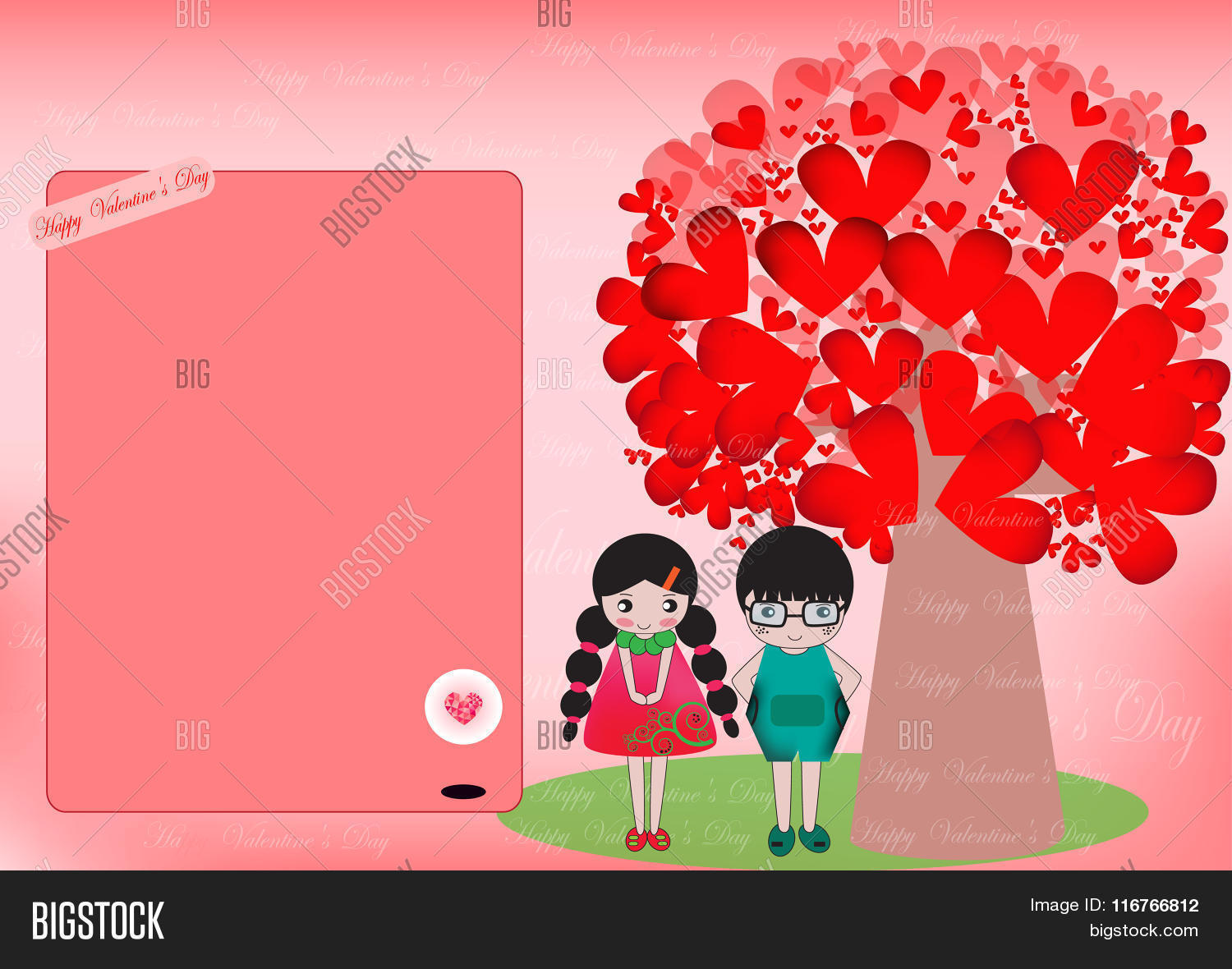 Pretty Cartoon Couple Vector Photo Free Trial Bigstock