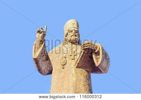 Petar I Petrovic Njegos Statue In Podgorica, Montenegro