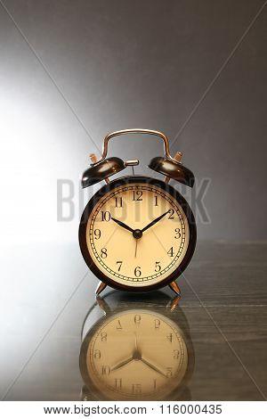 Alarm Clock On Dark