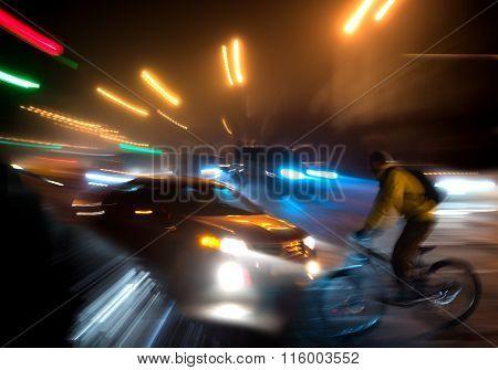 Dangerous City Traffic Situation