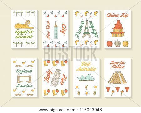 Travel cards collection