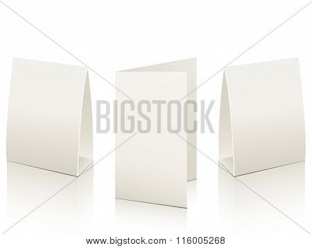 Blank Paper Table Cards.vector Illustration