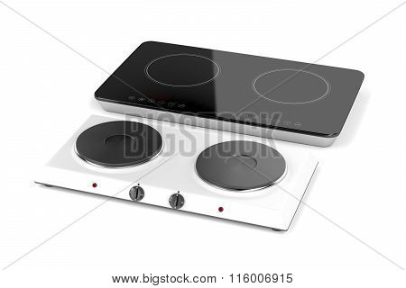Double Hot Plate And Induction Cooktop