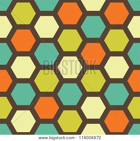 Vector modern seamless colorful geometry hexagon pattern