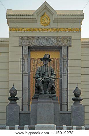 monument of Rama I in Bangkok