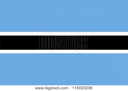 Standard Proportions and Color for Botswana Flag poster