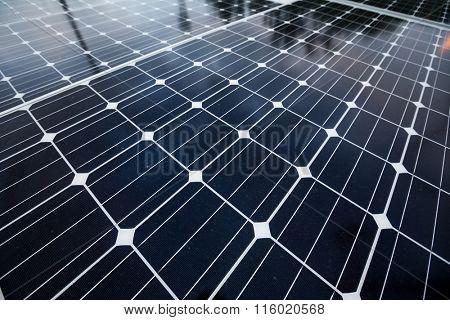 Solar power panel close up
