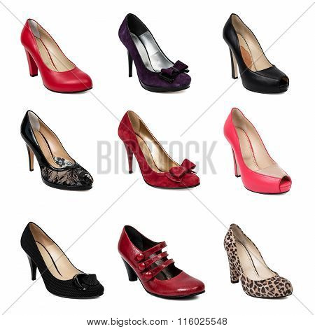Collection Of Woman Shoes.