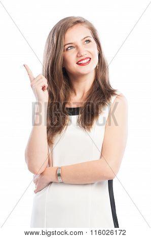 Business Woman Having A New Great Ideea.