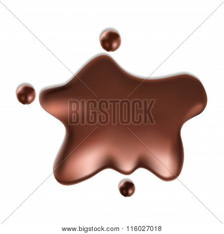 ector Chocolate syrup drip pattern isolated on a white background