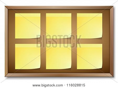 Notice Board Isolated On White Background