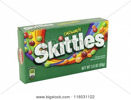 Box Of Skittles Orchards Candy