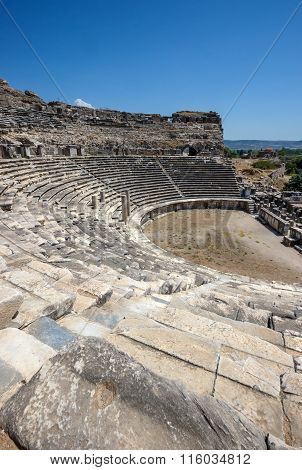 Greek Amphitheater In Miletus