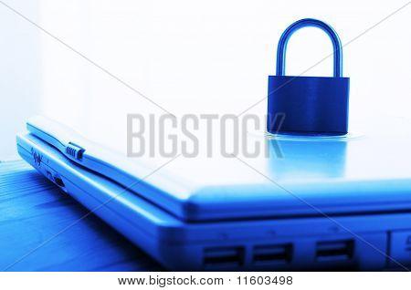 Notebook And Padlock