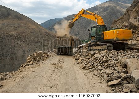 Roadwork In High Mountains