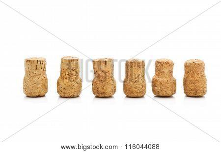 corks isolated on white background